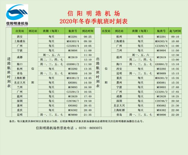 刚刚!信阳明港机场发布最新通知